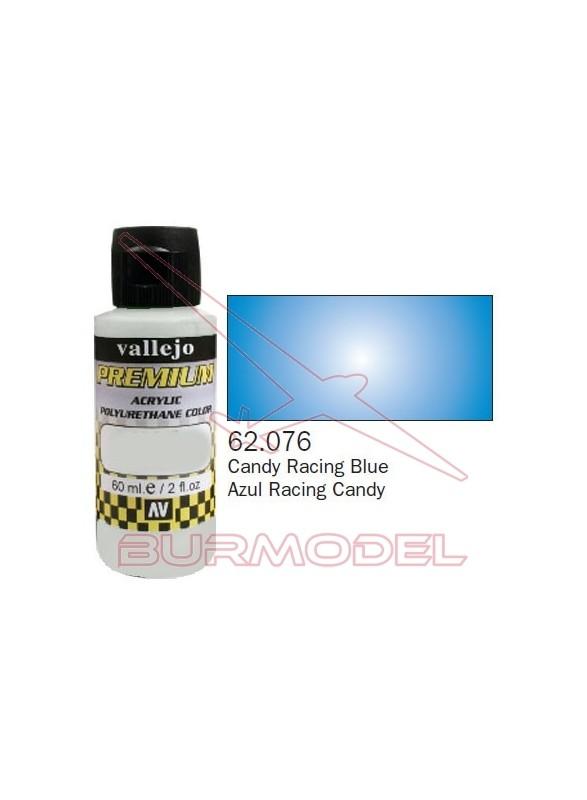 Pintura Premium Vallejo Azul Racing transparente