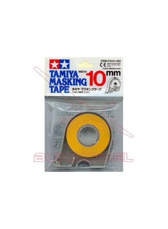Cinta adhesiva de enmascarar 10 mm