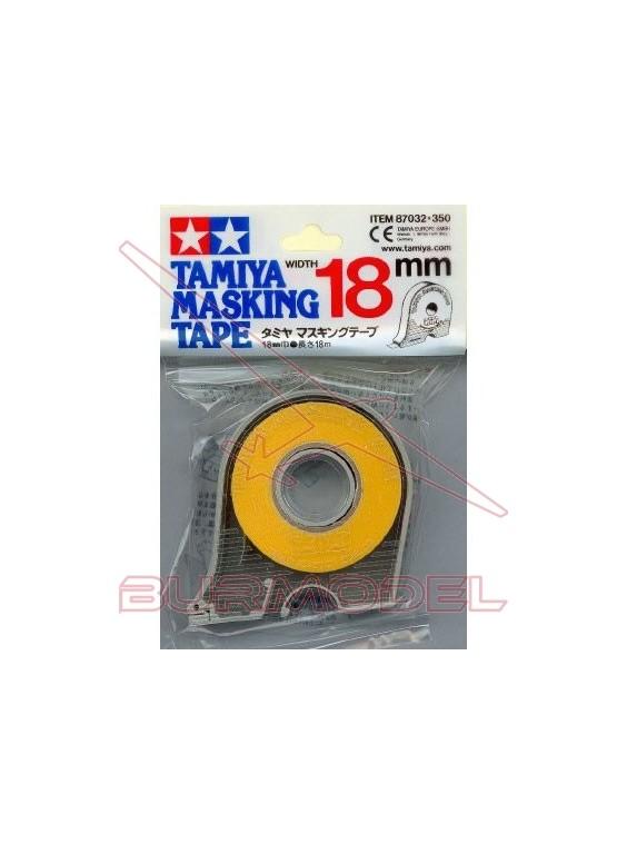 Cinta adhesiva de enmascarar 18 mm