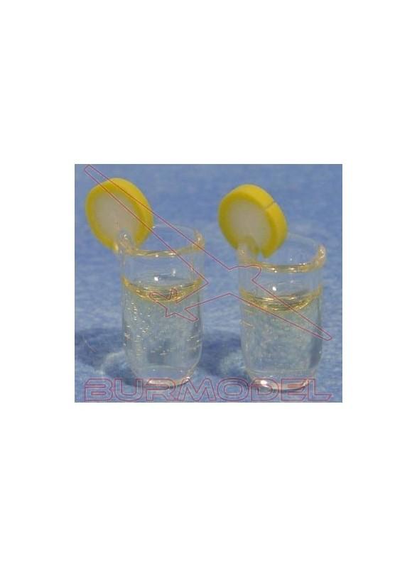 Vasos con bebidas (2 unidades)