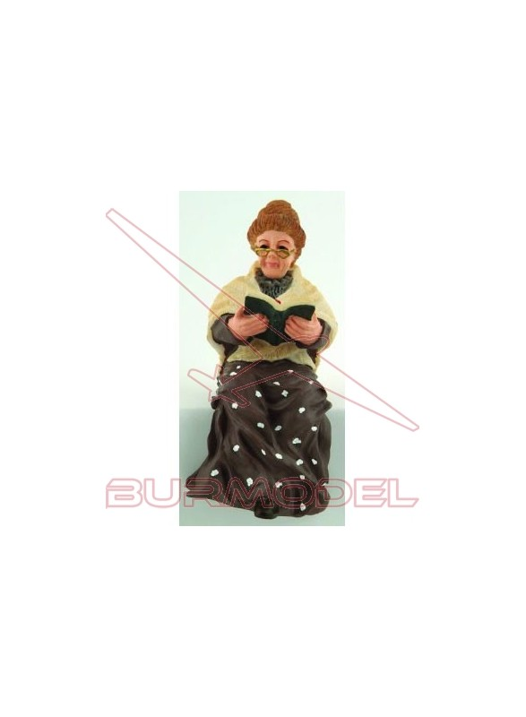 Abuela sentada resina
