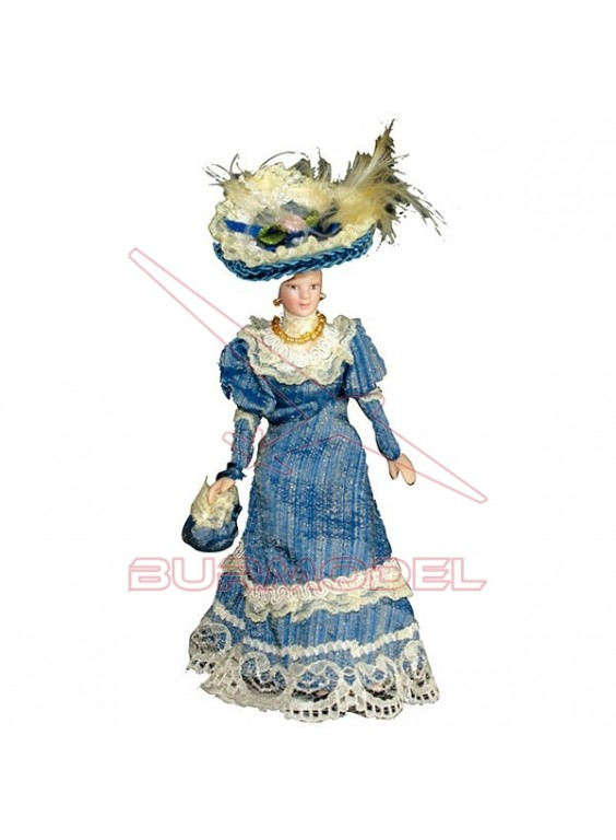 Señora Victoriana azul