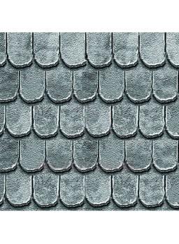 Decoración tejado gris para casas a escala