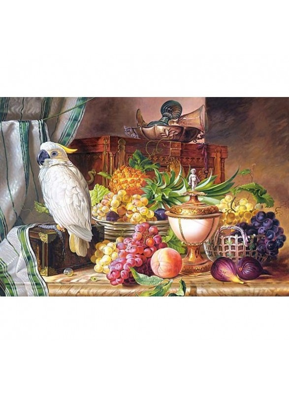 "Puzzle ""Still life with fruit and a cock."" 3000 p"