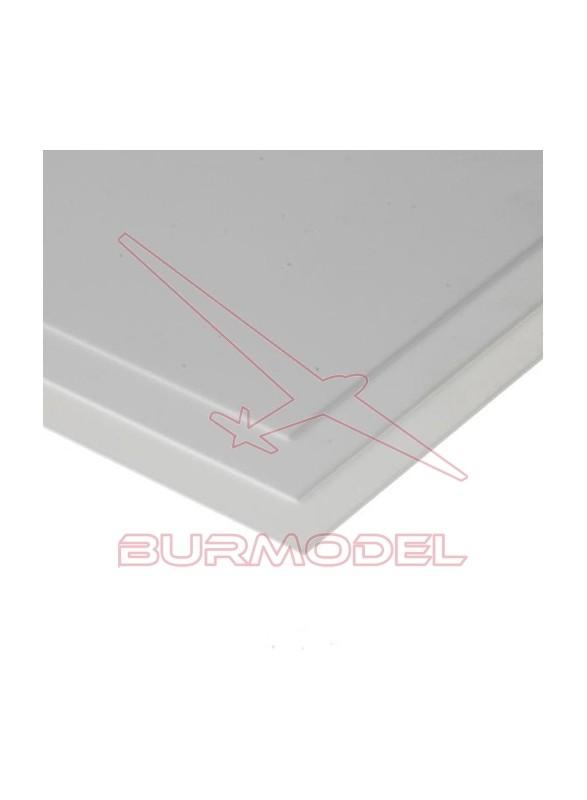 Hojas de estireno blanco liso 15x30 0.4 mm