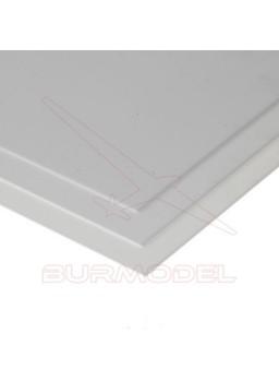 Hojas de estireno blanco liso 15x30 1.00 mm