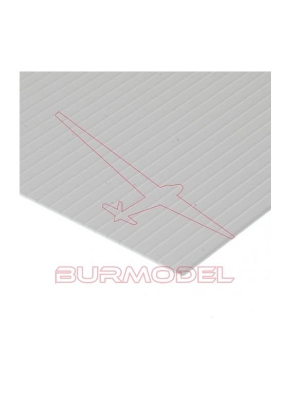 "Hojas grabadas en ""V"" 15x30 1x0.95 mm opaco/blanco"